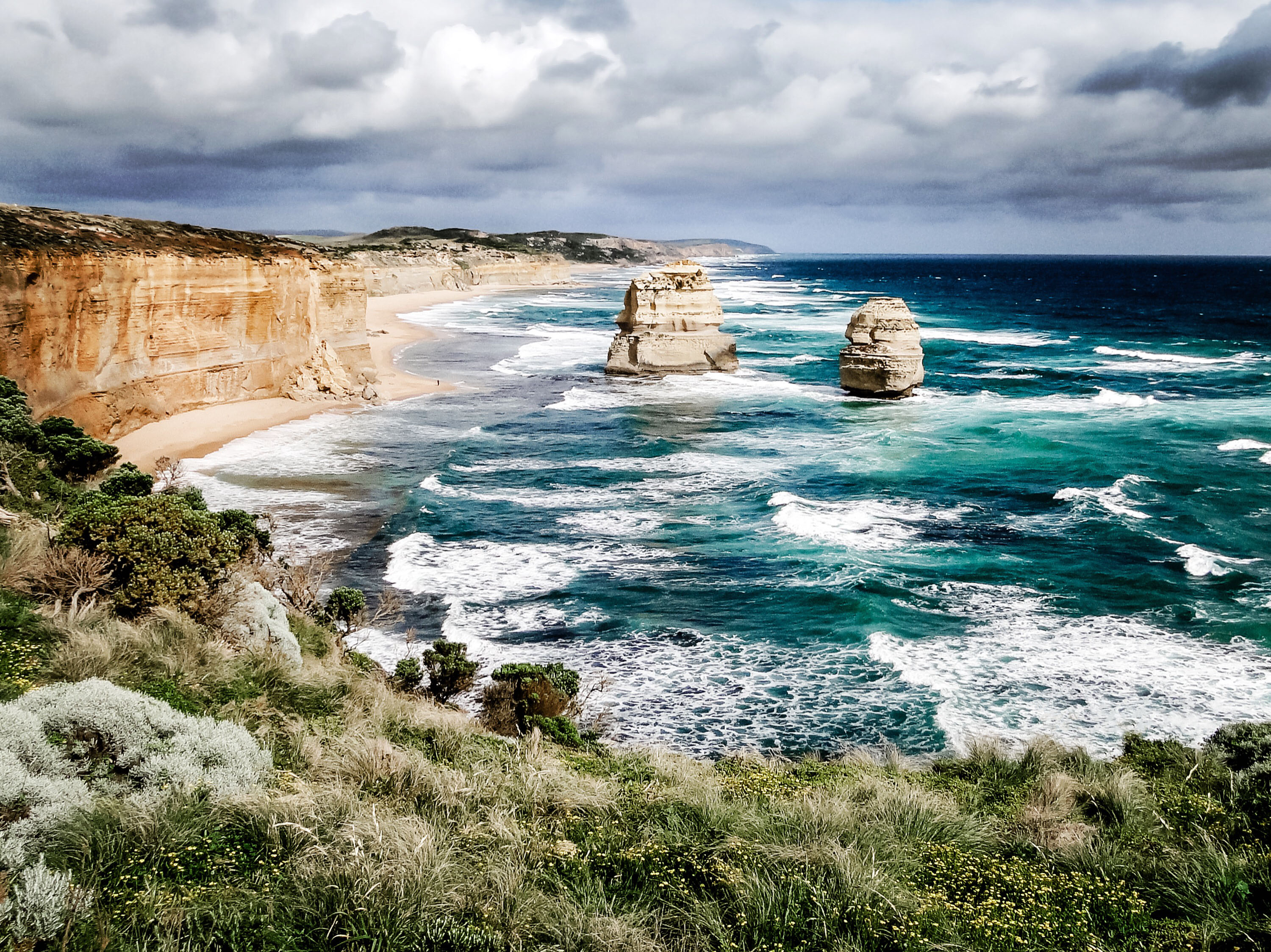 Two of twelve apostles, Great Ocean Road - Australia